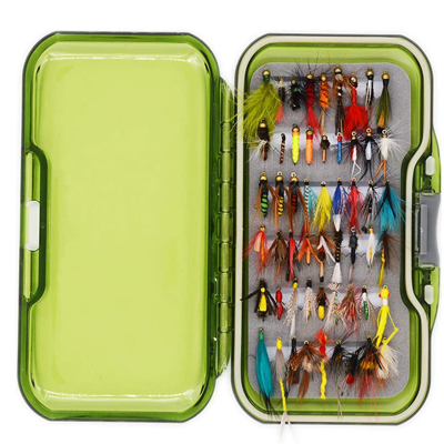 Flyafish Vintage Wet and Dry Fly Fishing kit de moscas